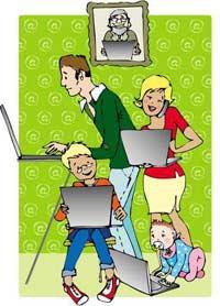 familia en la epoca moderna: